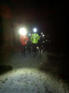 A spooky, snowy scene in Stanmer